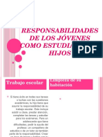 Responsabilidades de Los Jóvenes Como Estudiantes e Hijos