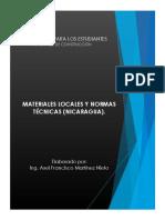 Materiales Locales y Normas Técnicas (Nicaragua) - Axel Martinez Nieto