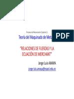 04 TMM - Relaciones de Fuerzas y Ecuación de Merchant