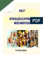 Aula 1 Introduc3a7c3a3o c3a0s Interac3a7c3b5es Medicamentosas