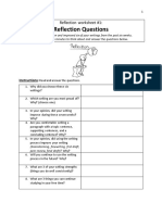 reflection worksheet 1