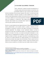 Patrimonio, Folklore, Folklorismo y Tradición - Laura Martínez Benítez