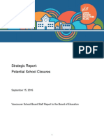 VSB Strategic Report on potential school closures