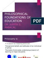 Philosophical Foundations of Education Part 1