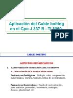 Aplicacion Del Cable Bolting Zona I - CIA. Minera Volcan