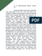 De Gentilium Et Christianorum Litteris 'Latine' Conciliandis Hieronymi epistula