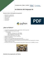 Elementos Basicos Del Lenguaje de Programacion(I)