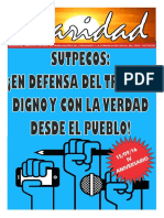 BOLETIN DEL SINDICATO UNITARIO DE TRABAJADORES DEL PERIODISMO Y LA COMUNICACIÓN SOCIAL DEL PERU -SUTPECOS- N° 1 - SETIEMBRE 2016