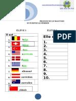 Les Nationalités Expression Orale
