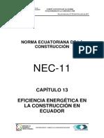 Nec2011 Cap.13 Eficiencia Energetica en La Construccion en Ecuador 021412