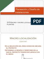 3.5 Macro y Micro Localización de Plantas