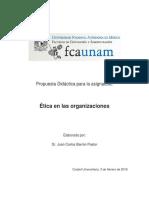 Plan Didáctico Ética 2016-2 UNAM