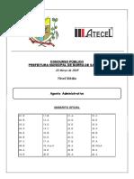 Agente Administrativo - Barra de Santana - Gabarito Oficial