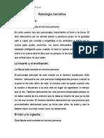 Antología Narrativa Descripcion de Personajes