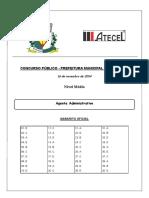 Agente Administrativo - Pocinhos - Gabarito Oficial