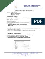 Informe Tecnico de Servicio Nº 001