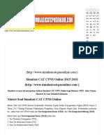 Simulasi CAT CPNS Online 2016 2017 Latihan Gratis BKN Menpan