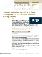 Residual stresses modelling in hard  turning and its correlation with the  cutting forces