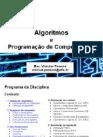 AULA 11 12 Algoritmos Programação Computadores
