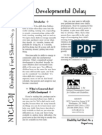 Developmental Delay Fact Sheet