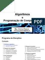 AULA 3 4 Algoritmos Programação Computadores