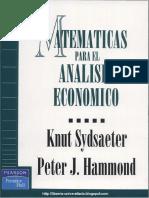 Matemáticas para el Análisis Económico -  Sydsaeter Hammod