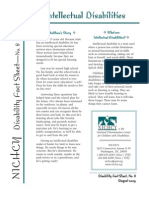 Intellectual Disabilities Fact Sheet