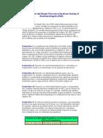 Clasificación Del Estado Físico de La American Society of Anesthesiologists