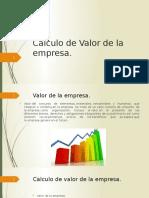 Calculo de Valor de La Empresa