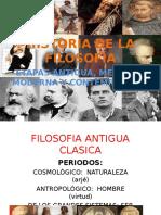 Historia de La Filosofia Etapas Antigua Moderna Medieval y Contemporanea