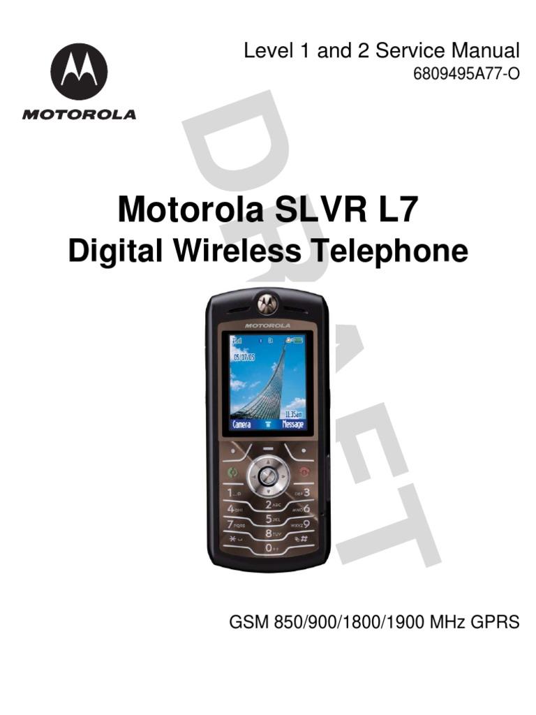 Motorola l7 slvr инструкция