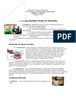 Cooking Quality Foods in Quantity