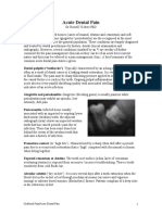 Acute Dental Pain