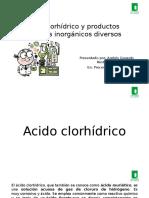 Acido Clorhidrico y Productos Quimicos Inorganicos Diversos