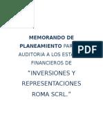 1.-Memorando de Planeamiento