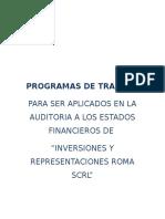 3.- Programas de Trabajo