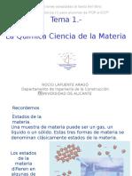 Tema 1.-Química -Ciencia de La Materia