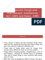 The Narcotic Drugs and Psychotropic Substances