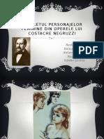 Portretul Personajelor Feminine Din Operele Lui Costache Negruzzi