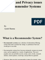 Security and Privacy Issues in Recommender Systems