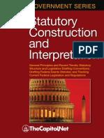 Statutory Construction and Interpretation