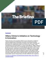 Hillary Clinton's Tech initiative