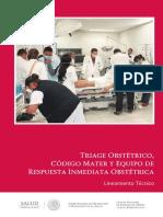 Triage Obstetric o Cm