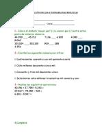Evaluación Inicial 6º Primaria Matemáticas