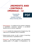 Measurements and Controls
