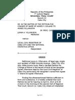 Order of Publication