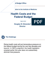 CBO Health Costs and the Federal Budget Presentation 5-26-10