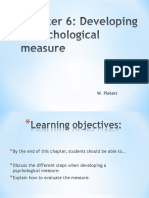 Developing a Psychological Measure