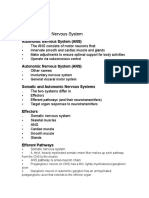 Chapter 15- Autonomic Nervous System Course Outline