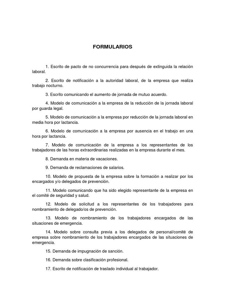 FORMULARIOS LABORAL